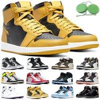 Высокое качество скидка Jumpman 1 баскетбольные туфли 1S мужские женские кроссовки университет синий гипер королевский темный Mocha Chicago спортивный размер обуви 5.5-12