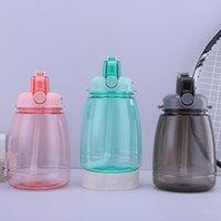 1300 ml Grande capacità Bottiglia di acqua sportiva all'aperto con cinturino di paglia Creativo Adesivo carino Portatile Plastica Bambini Silpy Cup Seaway HWF9238