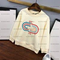 diseñador de marca bebé niños jersey suéteres niños otoño diseño punto de punto manga larga desgaste tamaño 100-140 blanco
