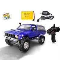 WPR C24 RC Автомобиль Пульт дистанционного управления Автомобиль 2.4G RC Trawler Off-Road Car Buggy Machere Machine 1:16 4WD Детские аккумуляторные автомобили RTR Подарки 210322