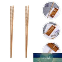 Pairs Wood Lengthen Chopsticks Multifunction Frying Noodle Chafing Dish Pot Flatware For Home Restaurant (42cm)