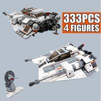 New 333PCS 20th Edition Star Space Ship Series Wars Snowspeeder Snowfield Aircraft Fit Building Blocks Bricks Kid Gift Toys X0503