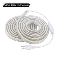 Ruban ultra brillant LED Strip flexible Light IP67 Ruban diode AC220V imperméable avec plug UE SMD 5630 180leds / m LEDStrip JQ Strips