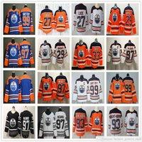 Homens Mulheres Jovens Edmonton Oilers Hóquei 97 McDavid Jersey 29 Leon Draisait 99 Wayne Gretzky 93 Ryan Nugent-Hopkins 27 Milão Lucic Kids Jersey