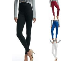 Women's Leggings GAOKE 2021 Women Sexy Slim Skinny Solid High Elastic Waist Polyester Ankle-Length Plus Size S-2XL