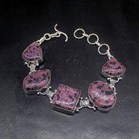 Link, Chain Gemstonefactory Jewelry Big Promotion Single Unique 925 Silver Origin Dalmatian Jasper Lady Women Charm Bracelet 21cm 20213314