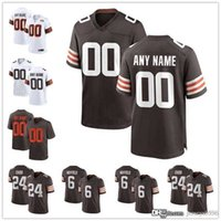 "Benutzerdefinierte Cleveland ""Browns"" Jersey 13 Odell Beckham JR 24 Nick Chubb 6 Bäcker Mayfield 28 Jeremiah Owusu-Koramoah Football Trikots"