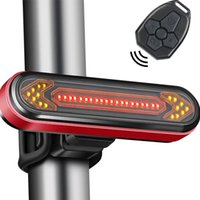Bike Lights Remote Control Bicycle Tail Light USB Rechargeable Riding Turn Signal Warning Wireless LED Rear Cycling Lantern