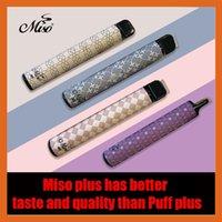 Miso plus Einweg-Vape-Stift E-Zigaretten 800 Puffs Starter Kit 550mAh Batterie-Stift 3,2ml Carts 80 Farben Verdampfer Vapes Upgrade Bars leer