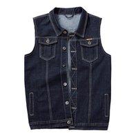 Men's Vests Plus Size 8XL 7XL Denim Vest Sleeveless Cowboy Jackets Tank Top Coat Chubby Men Waistcoat Gilet Chalecos Para Hombre