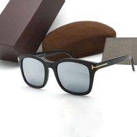 패션 럭셔리 브랜드 편광 된 선글라스 남자 톰 선글라스 Ford 여성을위한 사각 거울 선글래스 원래 케이스