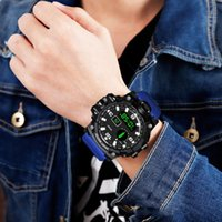 Наручные часы Arcrddk мужские бизнес цифровые часы мода светодиодный свечение в темноте высокого качества водонепроницаемый круглый циферблат запястье спортивные часы подарки