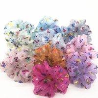 Organza Hair Scrunchies Women butterfly Laser Elastic Bands Girls Headwear Rubber Hair Ties Transparent Ponytail Holder