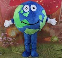 Performance Green Blue World World Mascotte Mascotte Costume Halloween Fantaisie Dress Friuts Publicité Vêtements de vêtement Carnaval Unisexe Adultes Outfit