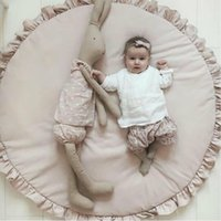 Nice Round Wet Toy mats Baby Crawling Carpets Children Blanket Path Girls Bed Room Decoration Nordic Style Photo Props A0508