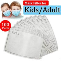 Filtre PM2.5 pour masque Masque anti-haze Masque remplaçable Filtre-Slice 5 couches Filtre de charbon actif non tissé Masques de masque de masque de masque FY9039