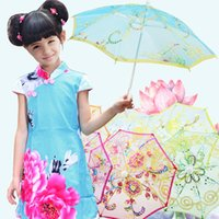 Mini Small Umbrella Children Dancing Props Craft Lace Embroidery Umbrella Stage Performance Party Favor Gifts