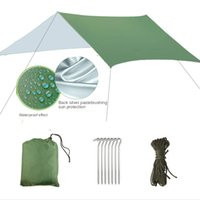 Outdoor waterproof super large canopy simple camping tent multi person family beach sunshade awning Shelters picnic mat