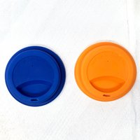 Silicone Cup Lids 9cm Anti Dust Spill Proof Food Grade Coffee Mug Milk Tea Cups Cover Seal Lid GWE9759