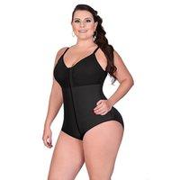 Women Body Shaper Front Zipper Tummy Trimmer Slimming Body Shaper Waist Trainer Shapewear Butt Lifter Cinta Modeladora Plus Size