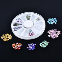 Nail Art Decorations Horse Eye Design Acrylic Glitter Rhinestone Supplies For Manicure Tips Charms 3D Crystal Clear AB