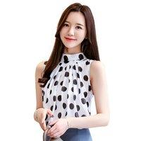 BLUSAS MUJER DE MODA 2021 Coreano Sin mangas Top Mujeres Camisa de gasa de verano Ropa de moda Polka Dot Blusa 9541 Camisas de las blusas de las mujeres