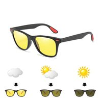 Açık gözlük pochromic polarize balıkçılık güneş gözlüğü erkekler renk değişikliği anti parlama UV400 gözlük sürüş polaroid gözlükler12-KPBS1052