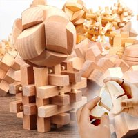 Wooden 3D Clicking Building Blocks Puzzles Stress Reliever Unlocking Toys for Girls Boys Intelligence Educational Children Kids