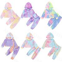 Clothing Sets Autumn Born Baby Boys Girls Clothes Long Sleeve Tie Dye Print Hoodies+Long Pant Toddler Kids Children Tracksuits Set