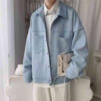 Privatherinker Solide Suisse Suisse surdimensionnée Vestes de style coréen Hommes Casual Casual Coats Automne Mode Homme Mode Vêtements 210901