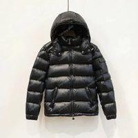 2021 Мужская куртка вниз Parkas Классические повседневные зимние пальто на открытом воздухе Серьезное покрытие Верхняя одежда с капюшоном Холодная защита Ветрозащищенные Homme Unisex Размер S-XXXL