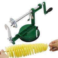 Acessórios de cozinha Tornado Slicer Batata Máquina de Enrolamento de Batata Slicer Aço Inoxidável Máquina de corte Máquina de corte Chip 210319