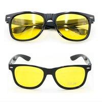 Sonnenbrille Unisex Square gelbe Linsen Nachtsichtbrille fahren Männer Frauen Winddichte Gloggle