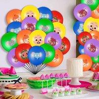 Cocomelon Tema Decorações Balão Adorável Desenhos Animados Bebê Família Decorativa Decorativa Balloons Dia Infantil Ornament Festa Acessórios G31803