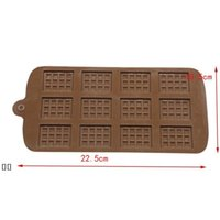 Dining Silicone Mold 12 Even Chocolate Mold Fondant Molds DIY Candy Bar Mould Cake Decoration Tools Kitchen Baking Accessories HHE6288