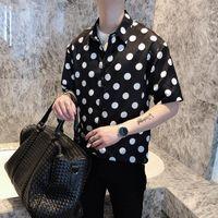 Men's Casual Shirts Comfortable Button Up Short Sleeve Men Plaid Fashion Mens Long Korean Clothing DD60ST