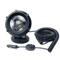 Altro sistema di illuminazione 25W 6000K Spot Spot Flood Combo LED Faro magnetico Car 4x4 Spotlight Set 3m / 8m Filo a molla retrattile OFF WORD WORK LI
