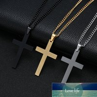 Fashion Cross Pendant Necklace Women Men Stainless Steel Link Chain Charm Necklace Cool Boys Girls Punk Hip Hop Jewelry Gift Factory price expert design Quality