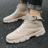 Botas de ferramentas de outono e inverno botas masculinas martin botas médias de sapatos masculinos de homens de deserto tendência de lobo