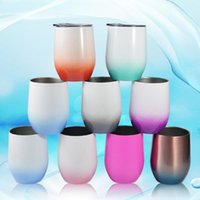 12oz Wine Tumbler Stainless Steel Egg Cup Water Bottle Vacuum Beer Cup Insulated Coffee Mug Double Wall Power Egg Tumbler SEAWAY GWF10500
