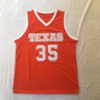Texas Longhorns College Basketball Jersey Kevin 35 Durant Summer Men's Fashion Thereys футболка улица Футбол спорт свободно с короткими рукавами студент