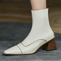 Boots Sexy Ankle Winter Colors Genuine Leather Side Zipper High Heels Felame Working Party Women's