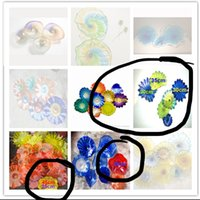New Arrival Colorful Blown Glass Wall Lamps Living Room Art Decoration Chihuly Style Plates