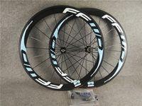 Bleu clair F5R 700C 3K Glossy 50mm FFWD Carbon Roues de vélo Roues de vélo avant avec 23mm largeur Noir Novatec A271 Hubs 11 Vitesse
