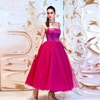 Cocktail Party Special Occasion Women Wear 2022 Prom Dresses with Beaded Spaghetti Straps Homecoming Dress Tulle A Line Bridal Gowns