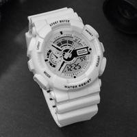 손목 시계 파란 시계 남자 G 스타일 방수 여성 시계 LED 디지털 전자 손목 시계 소녀 소년 군사 스포츠 Reloj