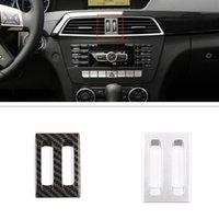 Car Center Air Vent Adjustment Frame Trim Stickers Fit For Mercedes Benz C Class W204 Auto Interior Accessories