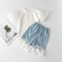 Baby Girls Casual Clothes Sets 3- 7 Years 2021 Summer Fashion...