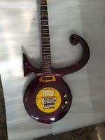 المعدنية الأرجواني الأمير رمز الحب الغيتار الكهربائي فلويد روز تريمولو جسر، الذهب مرآة pickguard الغطاء الخلفي، بطانة سحابة خاصة