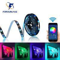 USB LED Şerit Işık SMD 5050 Renkli DC 5 V Esnek RGB Işıkları Şerit Bluetooth TV Arkaplan Aydınlatma